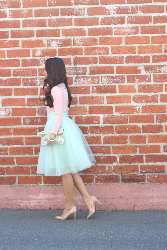 Mint Tulle Skirt and Blush Tee-5