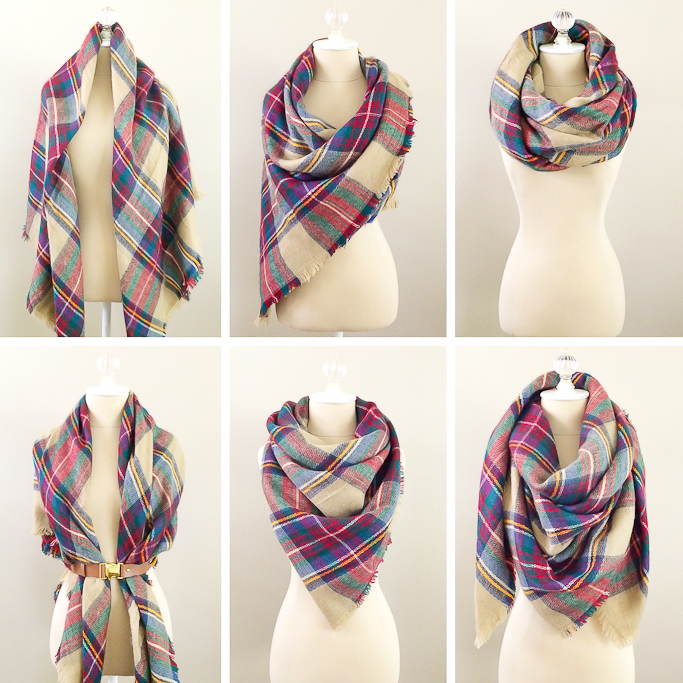6 ways to wear a blanket scarf how to tie a blanket scarf how to
