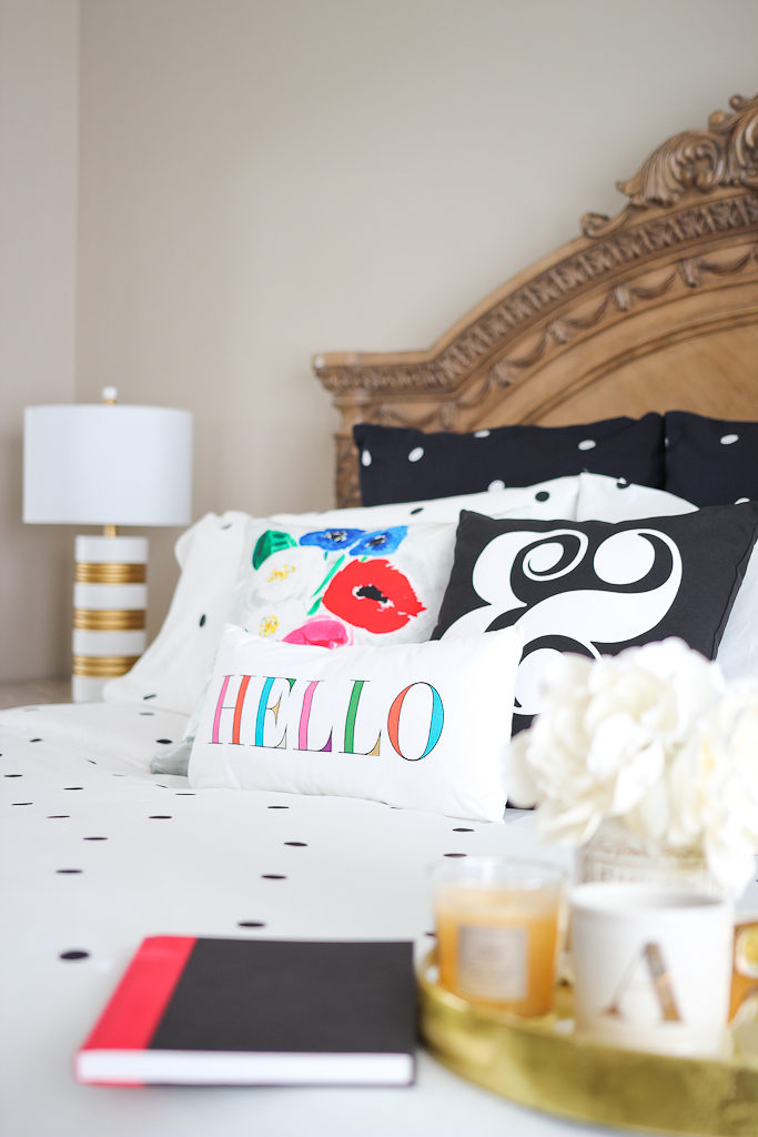 bed bath and beyond bedding, kate spade new york Ampersand Throw Square Pillow, kate spade new york deco dot comforter set, kate spade new york Deco Dot European Pillow Shams, kate spade new york Hello Oblong Throw Pillow, kate spade new york Vase Square Throw Pillow, Pure Beech sheet set