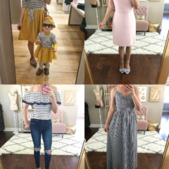 pink scalloped dress gingham maxi dress free people jeans mommy and me outfit