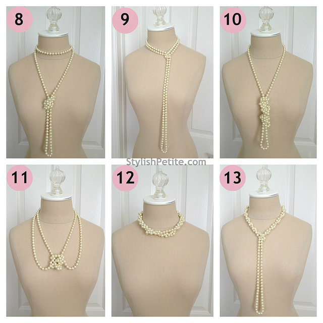 "How to wear a 60"" Pearl Necklace 21 ways4"