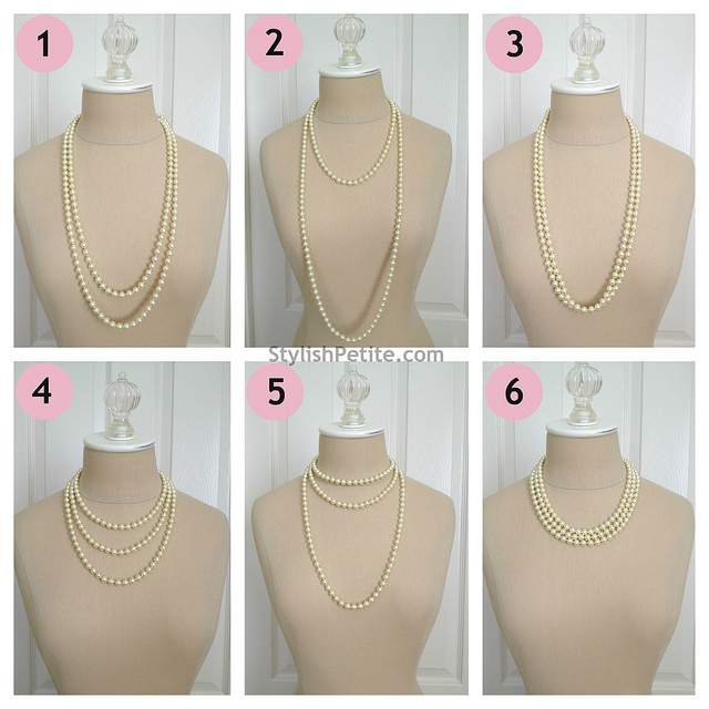 "How to wear a 60"" Pearl Necklace 21 ways2"