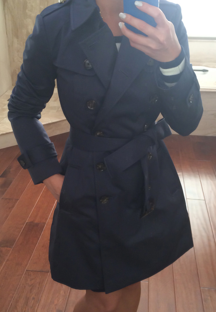 Review: Banana Republic Classic Petite Trench Coat and Halogen ...