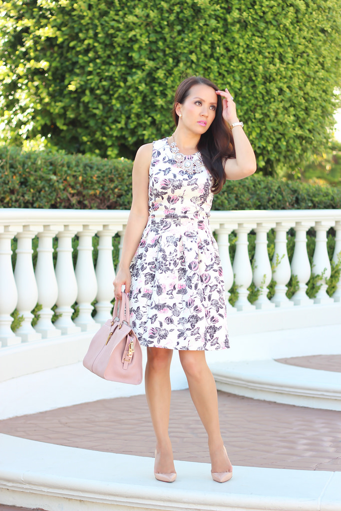 H&M Floral Dress and Blush_-12
