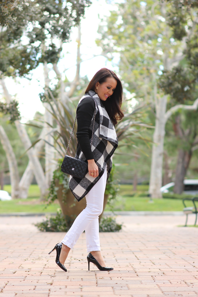 Sheinside Plaid Belted Coat