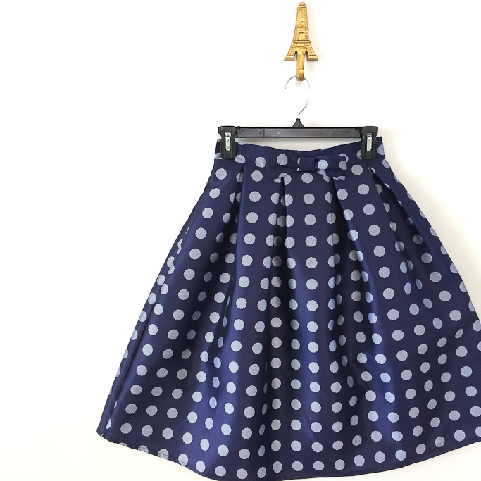Chicwish Playful bows and dots midi skirt