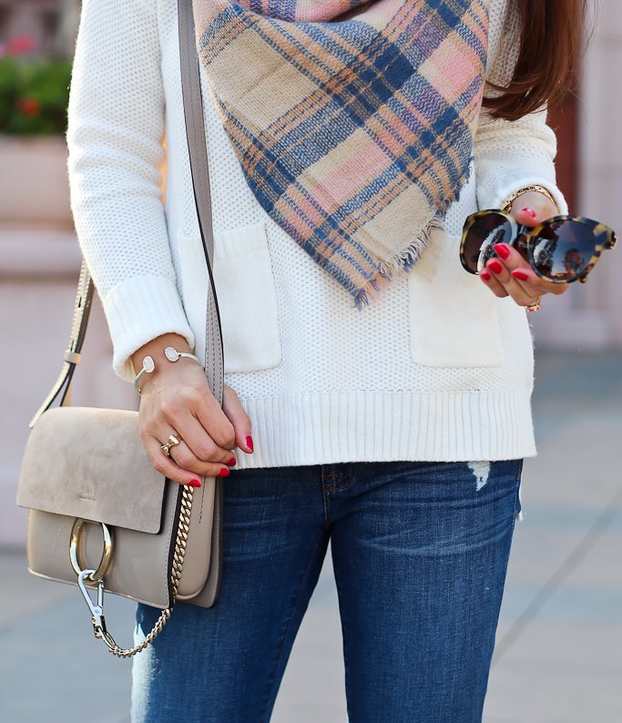 Chloe Small Faye Bag And Pretty Plaid Scarf Stylish Petite