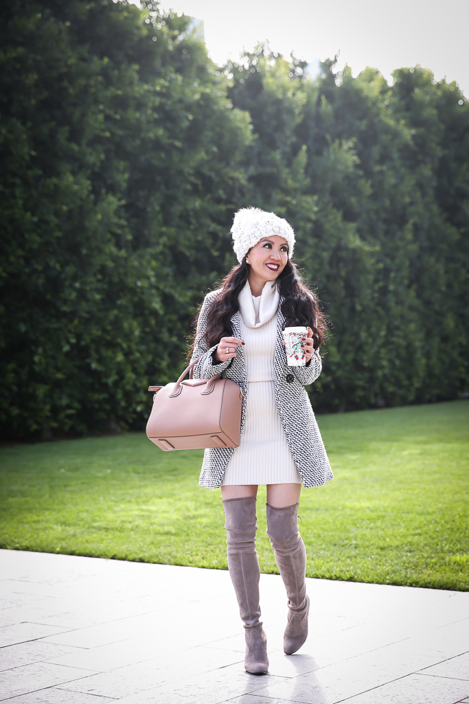 Neutral Winter Outfit And Positive Affirmations For 2018