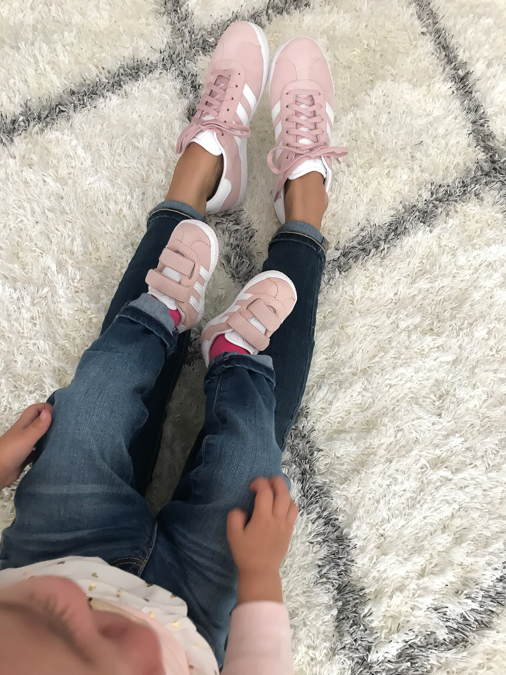 mommy and me pink sneakers